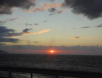 アルファードHVで、夕日を見に行った日