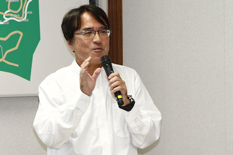 ROVの開発責任者の鈴木プロジェクトリーダー
