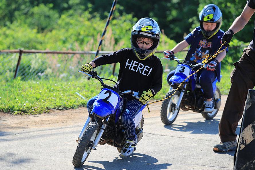 親子で楽しめるキッズバイクも大好評
