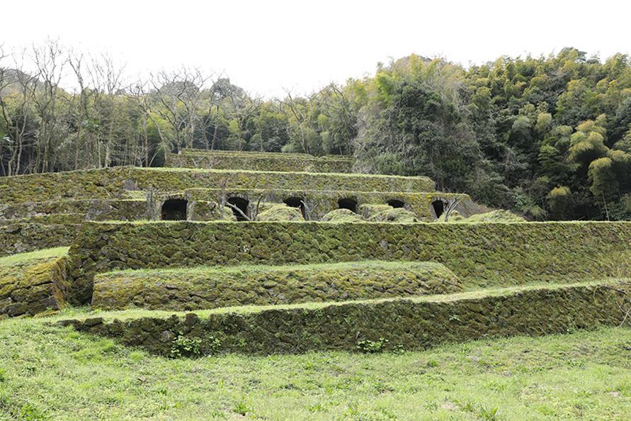 世界遺産「石見銀山遺跡とその文化的景観」にある清水谷精錬所跡。