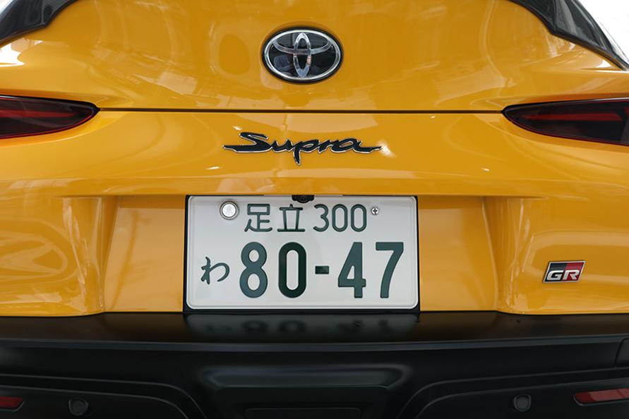 レンタカー登録の試乗車なので「わ」ナンバー