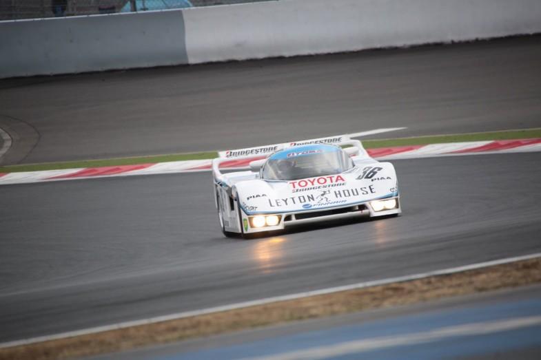 トヨタが初めてル・マンに挑戦したトヨタ・トムス 85C-L。イベントでは中嶋悟さんがドライブ