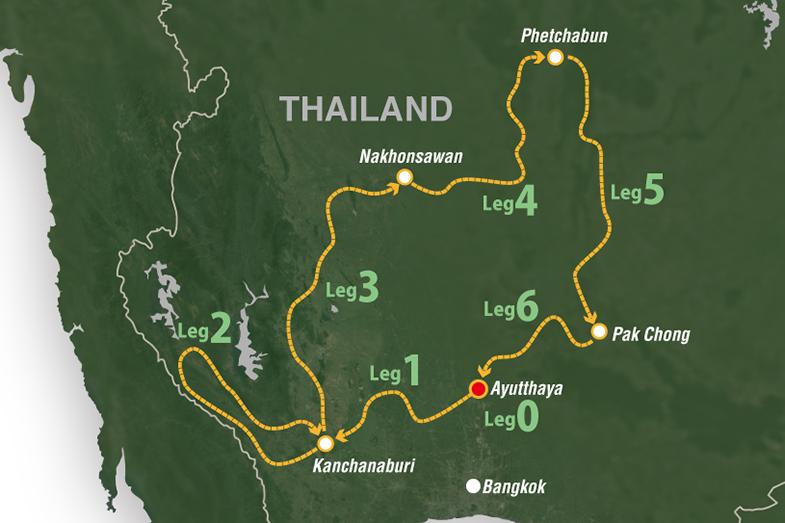 今年のアジアクロスカントリーラリーのコース図
