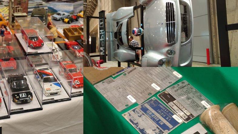CLK-GTRの前後カウル(写真右上)も売り物! 前後同時購入で300~350万円の価格はお買い得?
