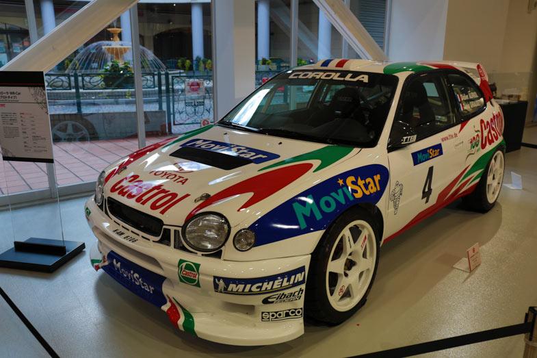 Motorsports Heritageに展示されているカローラWRCは、99年仕様のディディエ・オリオール車(プロトタイプ)