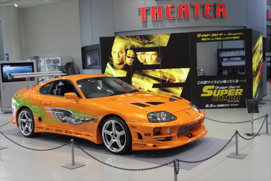 ワイルド・スピードのコーナーには、劇中に登場したオレンジのスープラのレプリカを展示。会場限定のオリジナルムービーも上映された