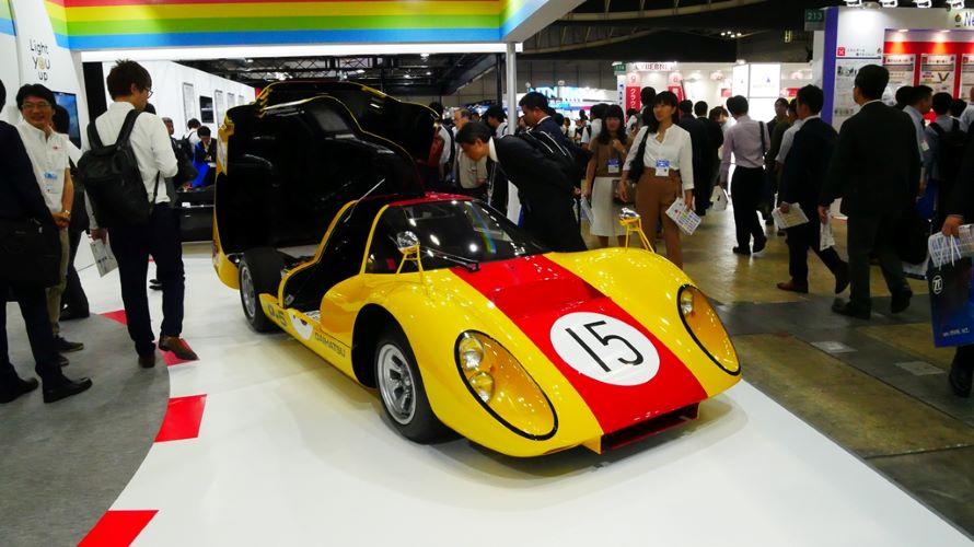 1968年の第3回日本グランプリ・レースに出場し、GP1クラスで優勝したレーシングカー「P-5」。