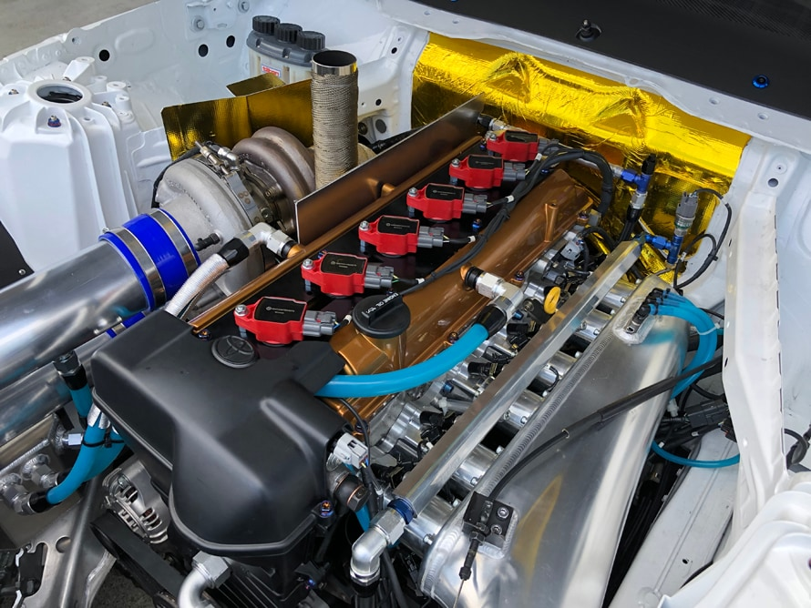 3.4リットル化された2JZエンジン