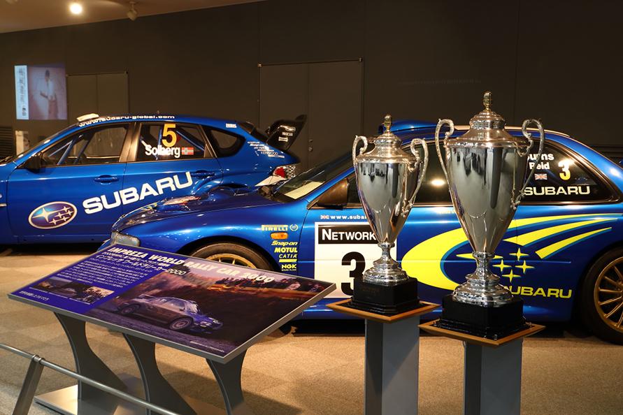 スバルのモータースポーツ活動については東京・三鷹のSTIギャラリーが充実してるが、こちらもなかなかの展示内容