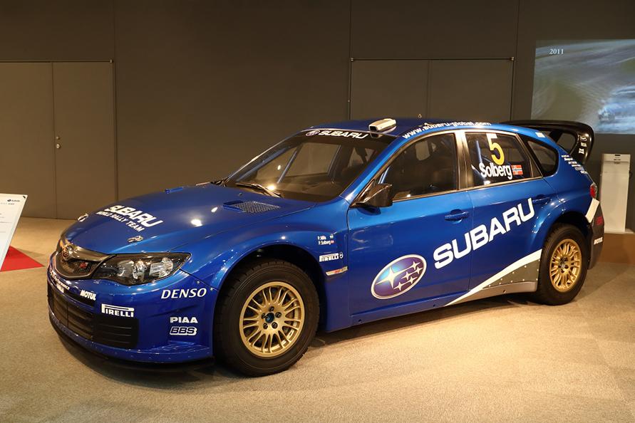 インプレッサWRC2009。この名前を聞いて「?」となった人はマニアかも。2008年の年末に突如WRCの撤退が発表され実戦投入されなかった2009年用のプロトタイプ。開発は進められていたのだ