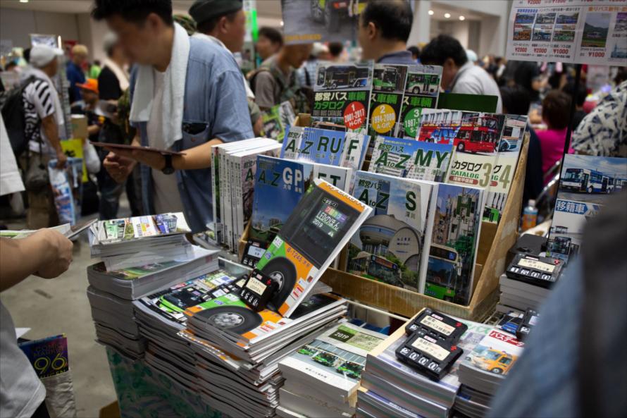 こちらでは都営バスについての専門書を販売。同人誌は1冊500~1,000円ぐらいで販売されている
