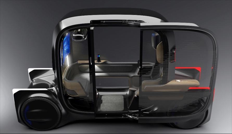 東京モーターショー2019にて、トヨタが一人乗りのMaaS車両「e-4me」を発表した