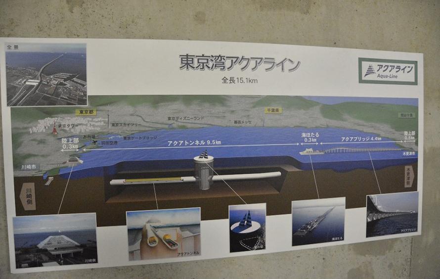 神奈川と千葉を結ぶ「東京湾アクアライン」の全体の説明図