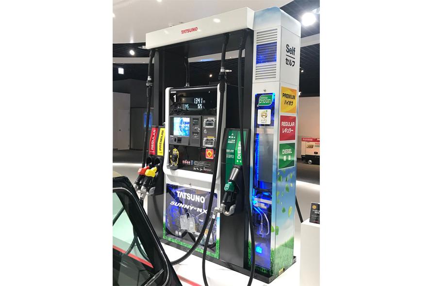 最新の「ガソリンベーパー液化回収機能付き計量機」
