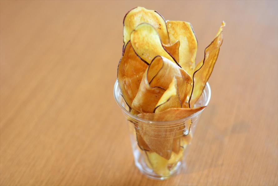 「芋や 富かわ」の「さつまいもチップス」(380円)
