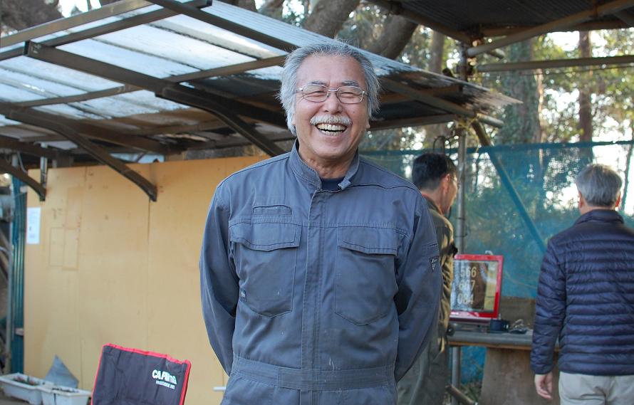 最年長の堀内さん(68歳)