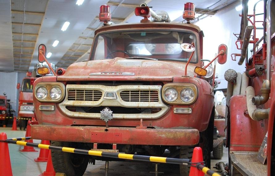 消防車博物館開設のきっかけとなった「いすゞ TXG20 化学消防ポンプ自動車」