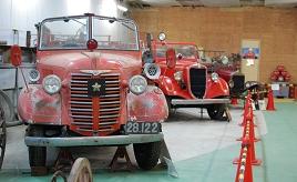 「消防自動車博物館」には大正~昭和に活躍した消防車が勢揃い