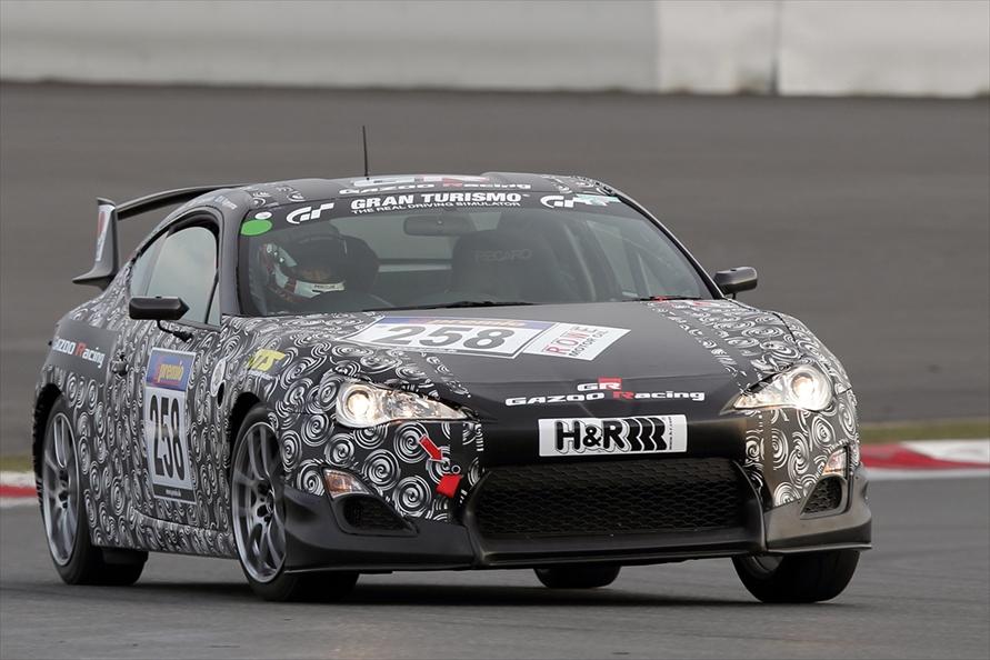 レースデビューを果たしたFT-86ニュルブルクリンク耐久レース参戦車両