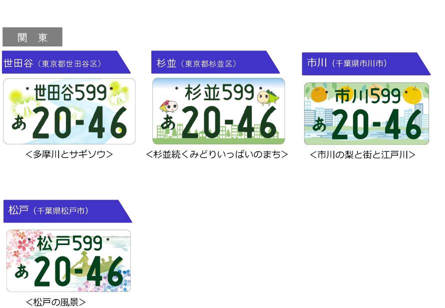 世田谷と市川、松戸はどれも河川をモチーフにしています。