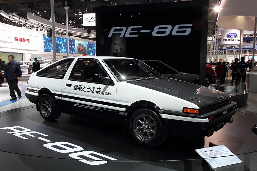2012年の北京モーターショーに展示された「AE86スプリンタートレノ3ドア」
