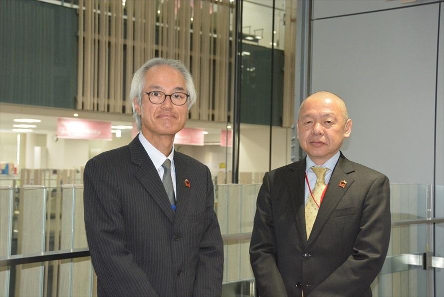 豊島区でイケバスの導入を担当した原島克典さん(左)と和田吉也さん(右)(2020年3月撮影)