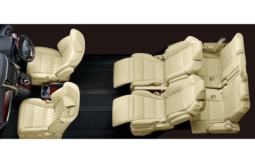 2列目シートにロングスライド機能が組み込まれているミニバンの多くは、スライド位置に関係なくベストな状態でシートベルトを装着できるようにシートへベルトを内蔵。(写真:トヨタ自動車)