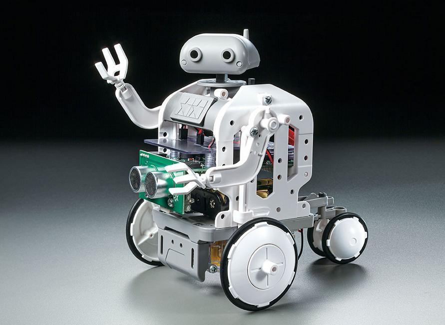 「プログラミング工作シリーズNo.2 マイコンロボット工作セット (ホイールタイプ)」