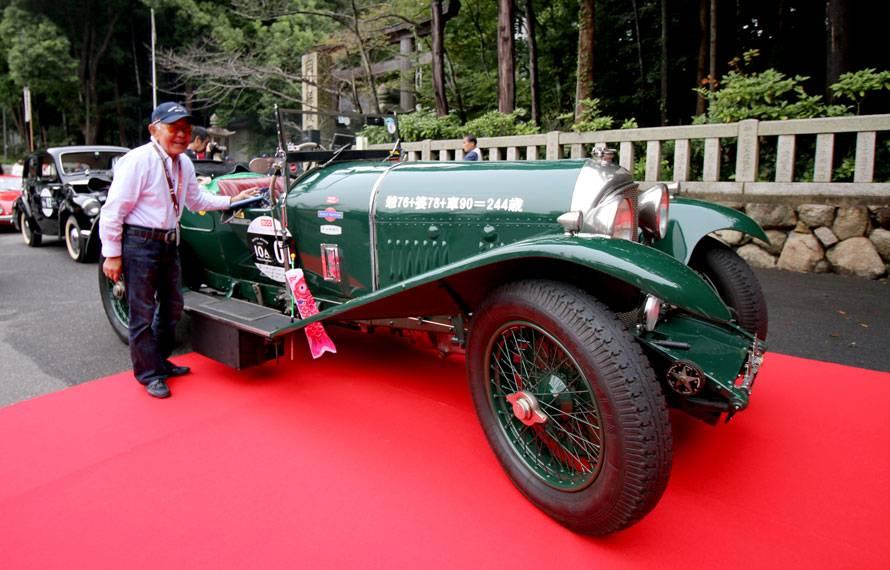 1926年製ベントレー3Lスピードモデルとドライバー