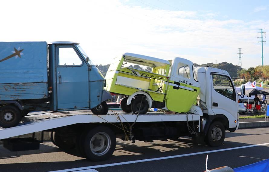 さいたまイタフラミーティングの楽しみの一つはピアッジオの三輪トラックに会えること