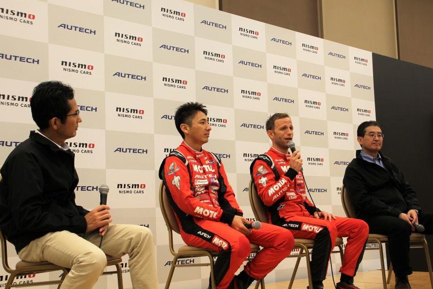 右から片桐隆夫代表取締役兼CEO、ロニー・クインタレッリ選手、松田次生選手、そしてSNSでお馴染みのすて☆るび夫氏