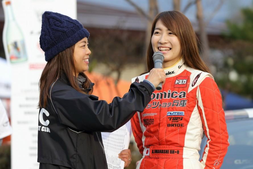 L1 RALLY、初代女王は今橋彩佳選手。「現在行っているレース活動とともに、今後はラリーにも参戦してきたい」と語った