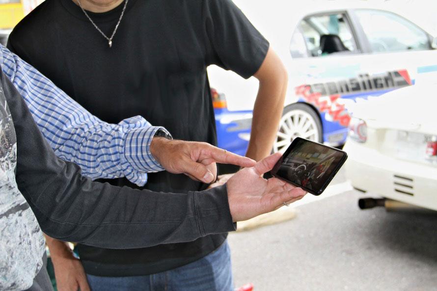 iPhoneだけですべてが完結するため、走行後にすぐに自分の走りをチェックすることも可能。