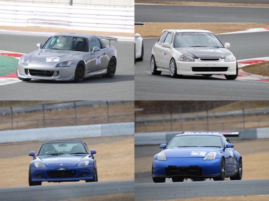 例えば、こちらのチーム「MANABOON」はS2000 x2台、シビックタイプRx1台、フェアレディZx1台の4台体制でエントリー
