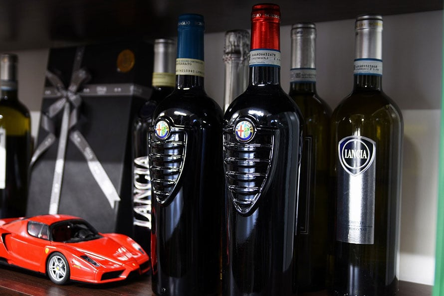 アルファロメオのワインは、製造するワイナリーが廃業してしまったため、手に入らないものだとか。こちらも非売品