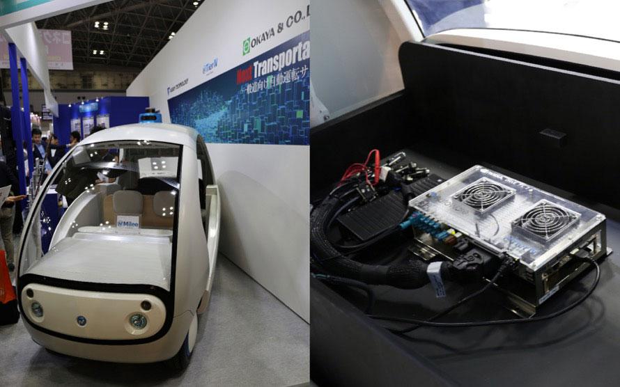 自動運転を構成するシステムはコンパクトになった。米NVIDIA(エヌビディア)社が提供するノートパソコンサイズのスーパーコンピューター「DRIVE PX2」をベースとして、センサーとカメラの組み合わせで自動運転・運転支援システムを実現する