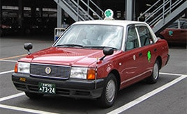 乗ると幸せになれる!? 京都ヤサカタクシー「四つ葉のクローバー号」