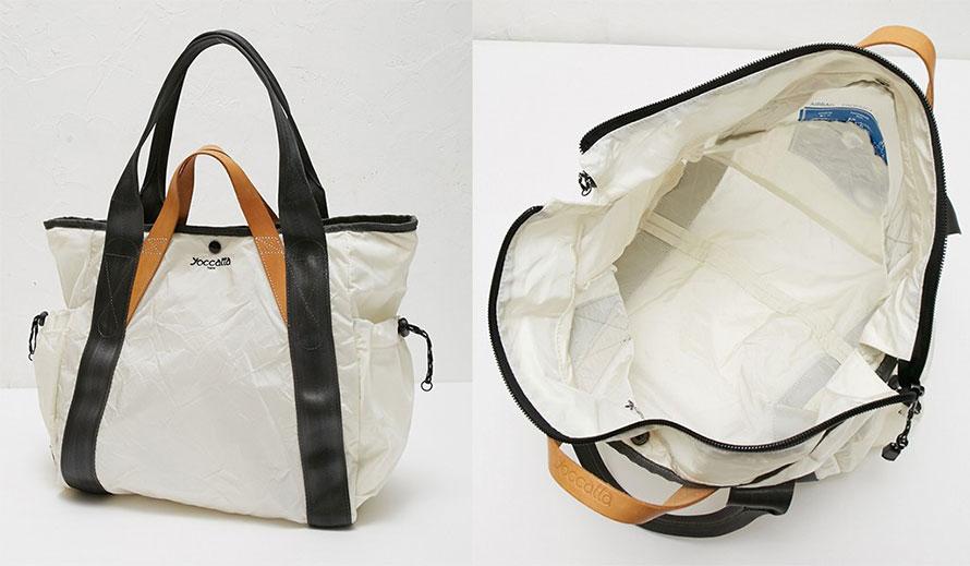 「yoccatta」の製品第1号となった「ダブルハンドルトートバッグM」。
