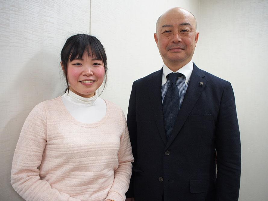 株式会社アークノハラ 設計部設計課 加藤早紀さん(左)、常務取締役 岡本力さん(右)