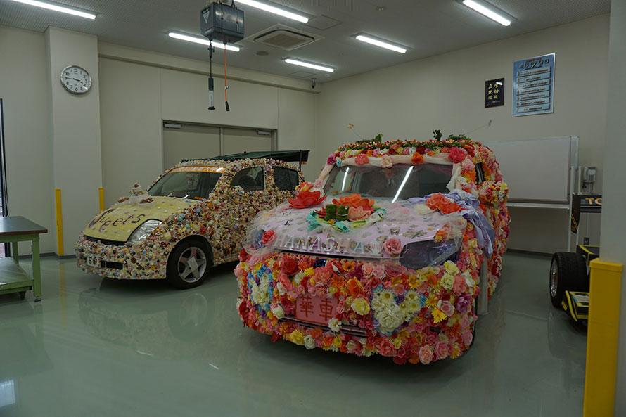東京オートサロンのドレスアップカー部門へ出展した「華車」。毎年出展しているそうで、すでに伝統行事となっているのだとか。
