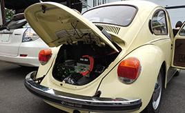 量産化を目指すクラシックビートルの電気自動車「ビートルコンプリートEV」