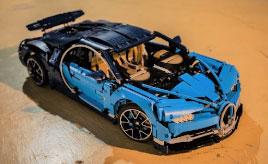 3599個の「レゴ」で作る3億円のスーパーカー「ブガッティ・シロン」