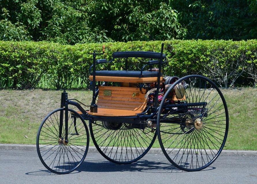 ガソリン自動車の第1号とされる「ベンツ パテント モトールヴァーゲン(1886年)」のレプリカ