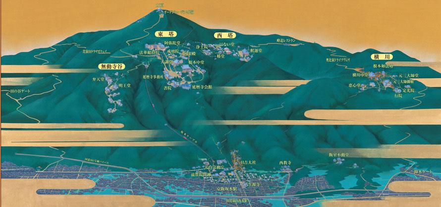 比叡山延暦寺の境内全図(イメージ)