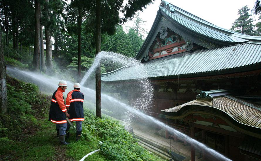消火訓練の様子