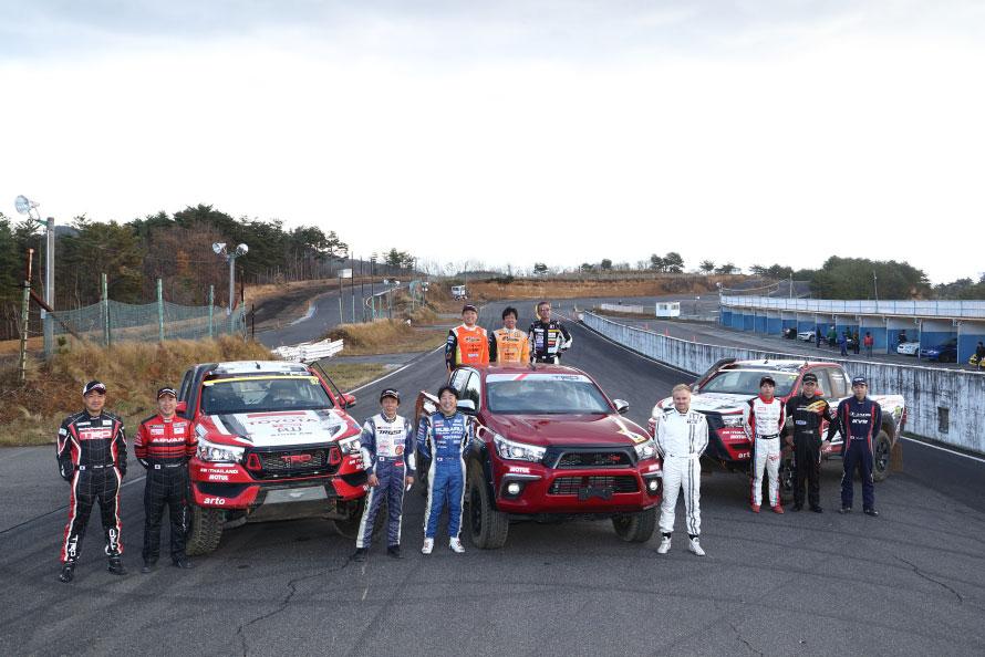 ラリー、ダートトライアル、ドリフト、スーパーGT、さまざまなカテゴリーの選手がエビスサーキットに集まった
