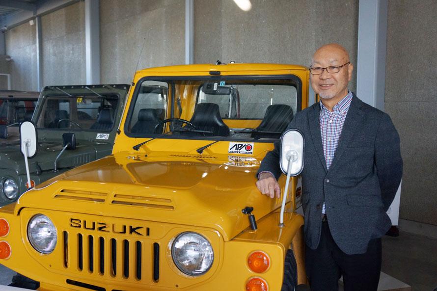 ジムニー専門パーツメーカー「アピオ」の創業者・尾上茂さん。