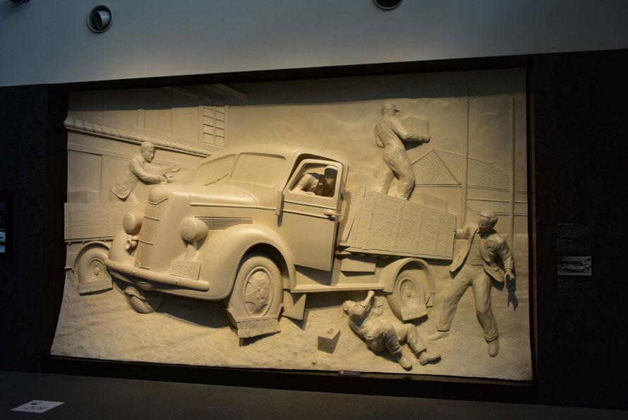 発売当初のトラックは後輪の車軸部分が折れるなどのアクシデントだらけだった。お客さまの荷物が遅れないよう、別のトラックで迎えに行ってフォローをしていたのだとか