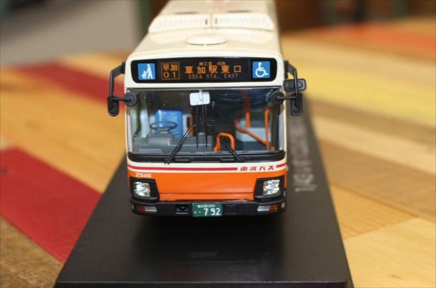 ナンバープレートは各バス会社の納入1号車の番号を採用している