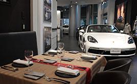 世界で唯一のポルシェ公認レストラン「The Momentum by Porsche」